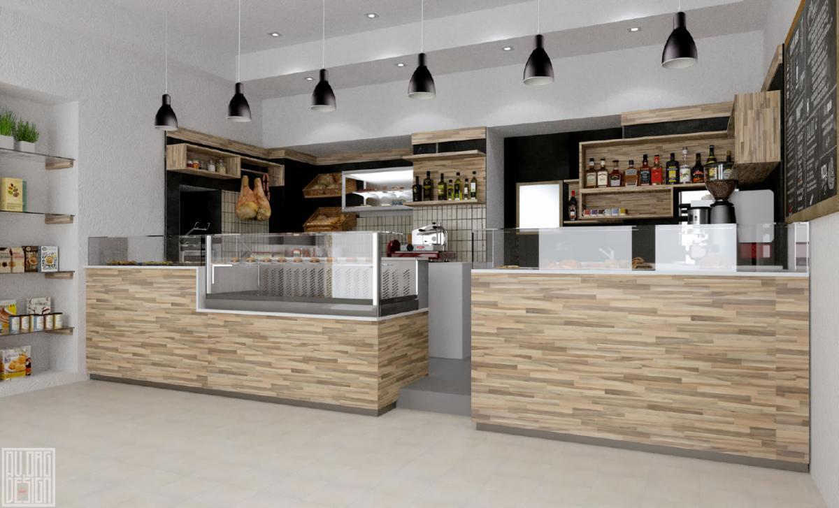 Progettazione 3d arredamenti commerciali for Arredamenti per bar moderni